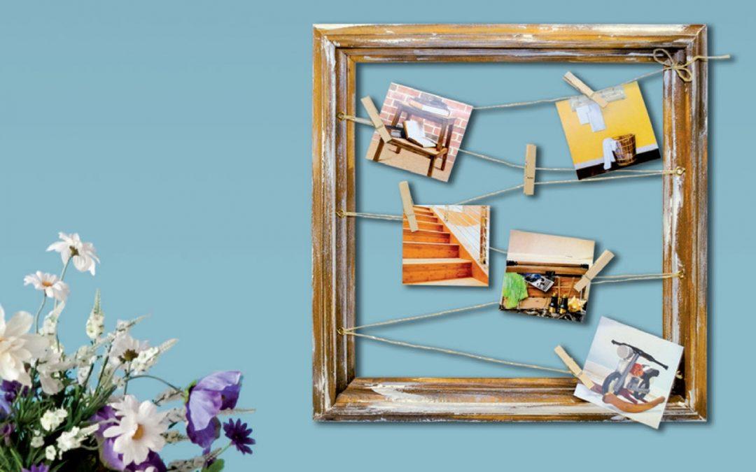 Ako vyrobiť rám obrazu v štýle dreva vyplaveného riekou